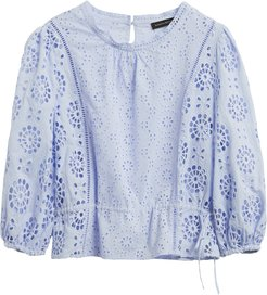 Unlined Eyelet Cropped Top