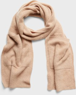 Brushed Cashmere Scarf with Pockets