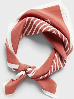 Border Stripe Silk Bandana