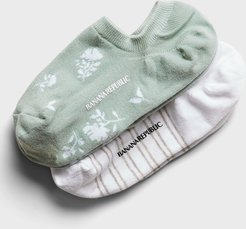 Floral No Show Sock 2-Pack