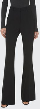 Charlie Crepe High-Rise Flare Pants