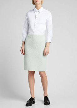 Boucle Knit Pencil Skirt