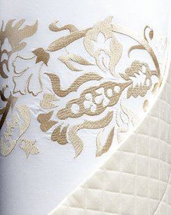 King Plumes Embroidered Duvet Cover