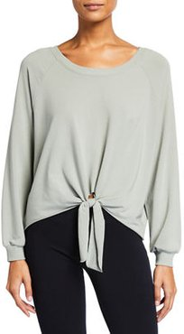 Blair Knotted Jersey Pullover