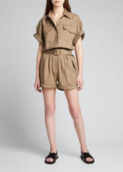 Arie Belted Utility Romper