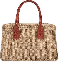 Woven Wicker Straw Tote Bag