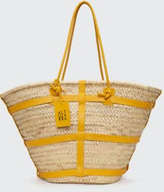 Watermill Large Straw Shopper Tote Bag