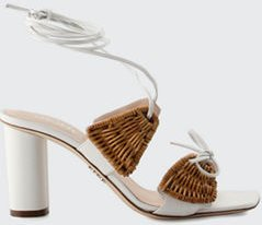 Willow Wicker Ankle-Tie Sandals