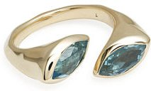 18k Prisma Bypass Marquise Ring
