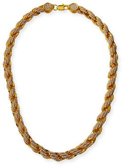 Pave Rope Chain Necklace