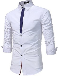 Long Sleeve Color Block Men Shirts clothes shopping near me, shoppers stop, Color Men Shirts,