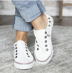 Light Wash Flat Round Toe Casual Sneakers shoping, shop,