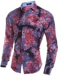 Tie/Dye Abstract Print Long Sleeve Men Shirts shop, stores and shops, Abstract Men Shirts,