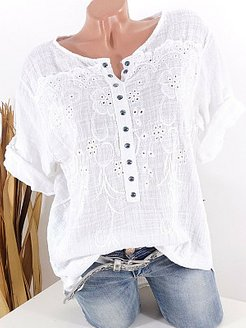 Round Neck Patchwork Lace Blouses shoping, clothes shopping near me, lace Blouses, off the shoulder tops, work blouses
