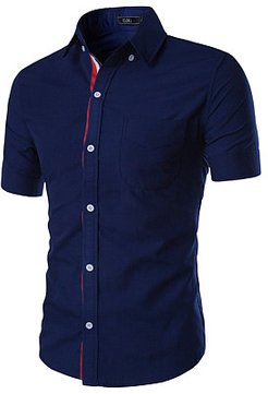 Fitted Patch Pocket Plain Men Shirts shoping, fashion store, Solid Men Shirts,