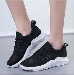 Plain Flat Round Toe Casual Sport Sneakers clothes shopping near me, online shop,