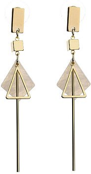 White Shell Pendant Bar Earrings online stores, stores and shops,