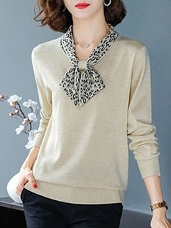 Tie Collar Elegant Long Sleeve Knit Pullover stores and shops, clothing stores, Long Pullover, knit cardigan, sweater hoodie