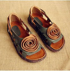 Color Block Flat Peep Toe Casual Travel Flat Sandals sale, stores and shops,