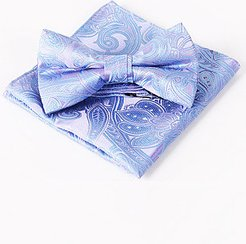 Banquet Style Paisley Jacquard Pocket Square Bow Tie clothes shopping near me, online shopping sites,