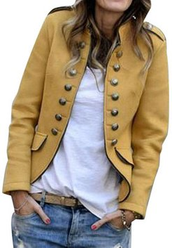 Fashion solid color slim casual double-breasted jacket shoping, stores and shops, Solid Jackets, womens jackets sale, black leather jacket women
