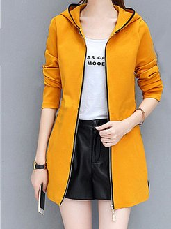 Mid-length solid color coat women's top online shopping sites, online stores,