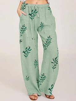 Fashion printed casual pants clothing stores, online,