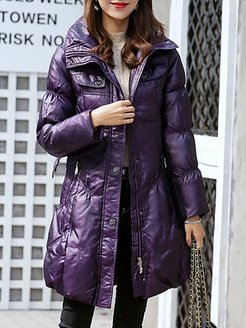 Fashion hooded solid color slim belt thickened down coat clothing stores, stores and shops, Solid Coats, mens coats sale, winter jackets for women
