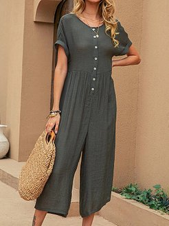 Casual Solid Color Jumpsuit online shopping sites, shoping, co ord sets, two piece dresses
