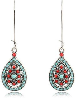 Bohemian Water Drop Large Earrings sale, clothes shopping near me,
