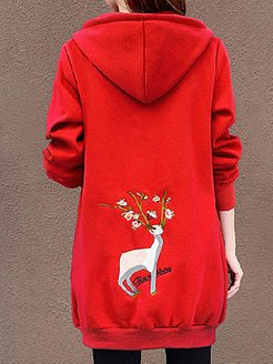 Autumn And Winter Plus Velvet Padded Cardigan Hooded Sweater sale, online,