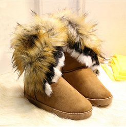In The Tube Snow Boots Cotton Shoes Fox Fur clothes shopping near me, stores and shops,