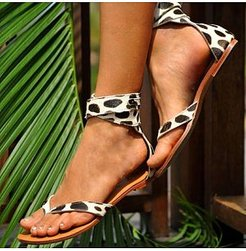 Flat Fashion One-Line Buckle Sandals online shop, clothes shopping near me,