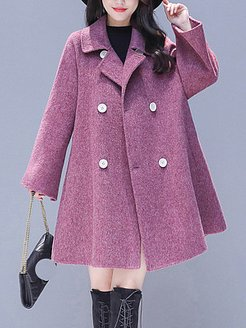 Fashion autumn and winter casual loose double-breasted woolen coat sale, online shop, womens fashion jackets, warmest winter coats