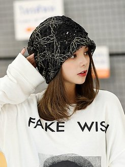 Flowers Beanie Embossed knitting Cutout Caps shoping, stores and shops,