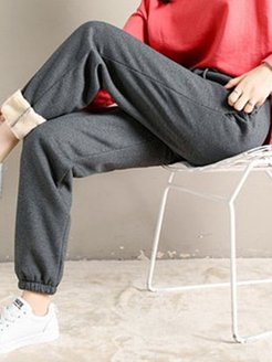 Autumn and winter plus velvet padded sweatpants online stores, fashion store,