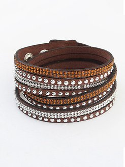 Long Leather Multi-layer Braided Bracelet For Woman online, fashion store,