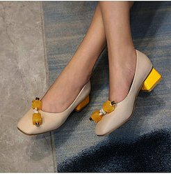 Fashionable low-heeled square-toe thick-heeled shoes online sale, sale,