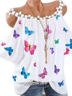 Camisole Flowers Patchwork Printed Blouse online shopping sites, online, going out tops, peasant blouse