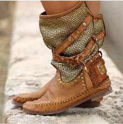 boots with belt buckle online shopping sites, fashion store,