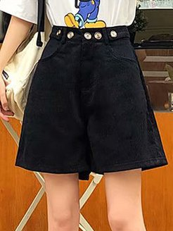 Corduroy casual five-point pants wide-leg all-match shorts sale, online stores,