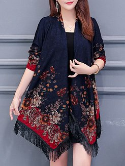 Printed Loose Shawl Cloak clothing stores, stores and shops,