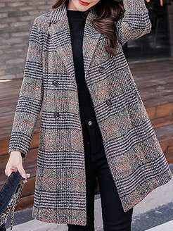 Plaid woolen coat Tweed coat stores and shops, online sale, red leather jacket womens, dress coats for women