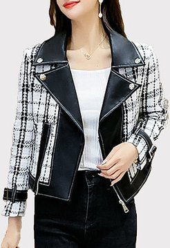 Autumn And Winter Woolen Leather Jacket sale, shoping, olive green jacket women's, womens parka coats