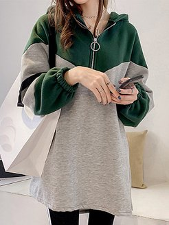 Loose Long Sleeve Color Block Dress online stores, shoping, shift dress, short sleeve shift dress
