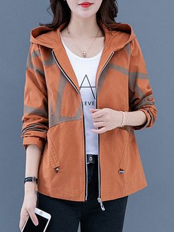 Hooded long sleeve casual jacket sale, shoppers stop, Long Jackets, white winter coat, camel coat women's