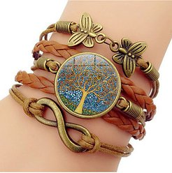 Tree of Life Time Gem Hand Woven Bracelet sale, clothes shopping near me,