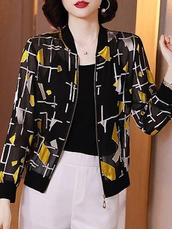 Long Sleeve Printed Sunscreen Jacket shoppers stop, clothes shopping near me, leather jacket with fur, womens red coat
