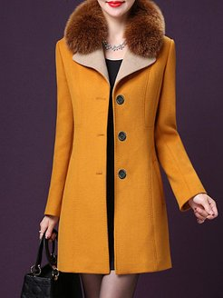Slim temperament fur collar coat shoping, online shop, Solid Coats, women's spring coats, hooded leather jacket womens