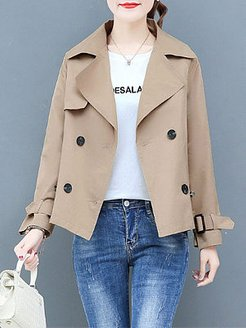 New casual all-match short trench coat shop, online stores,